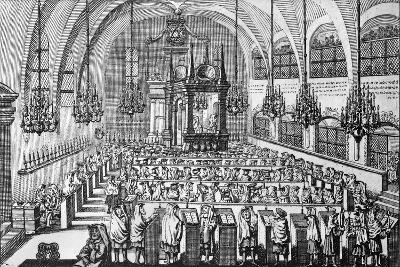 The Gathering in the Synagogue, 1705--Giclee Print