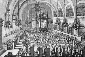 The Gathering in the Synagogue, 1705