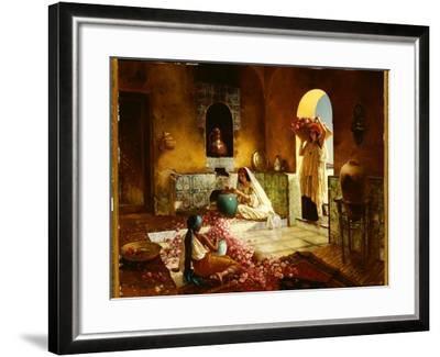 The Gathering of the Roses-Rudolphe Ernst-Framed Giclee Print