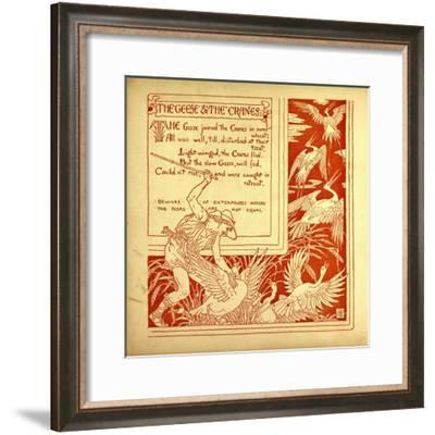 The Geese and the Cranes--Framed Giclee Print