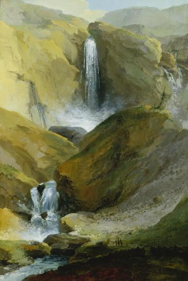 The Geltenschuss Waterfall in the Lauenen Valley, 1777-Caspar Wolf-Giclee Print