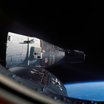 The Gemini 7 Spacecraft in Earth Orbit-Stocktrek Images-Photographic Print