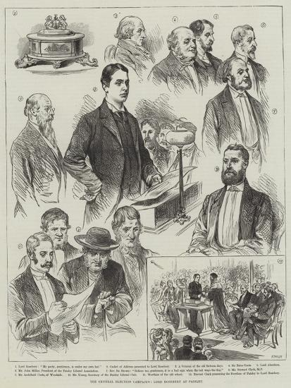The General Election Campaign, Lord Rosebery at Paisley--Giclee Print
