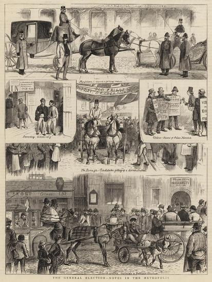 The General Election, Notes in the Metropolis-William Ralston-Giclee Print