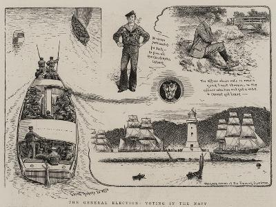 The General Election, Voting in the Navy--Giclee Print