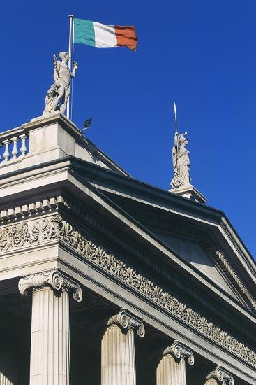 The General Post Office (Gpo) on O'Connell Street, Which Flies Irish Flag, Dublin, Ireland--Photographic Print