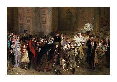 The General Post Office, One Minute to Six: 1860-George Elgar Hicks-Premium Giclee Print