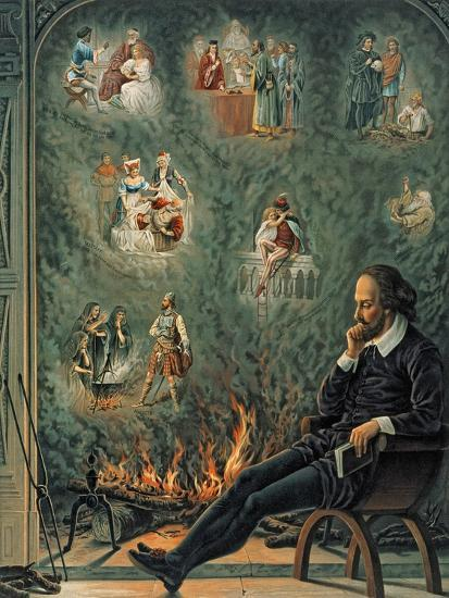 The Genius of Shakespeare (Presented with 'Great Thoughts' Christmas Number), Pub. 1888 by W.…--Giclee Print