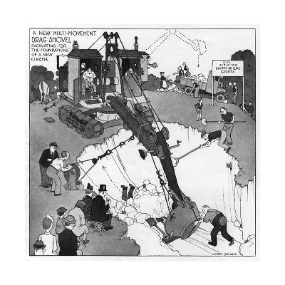 The Gentle Art of Excavating-William Heath Robinson-Giclee Print