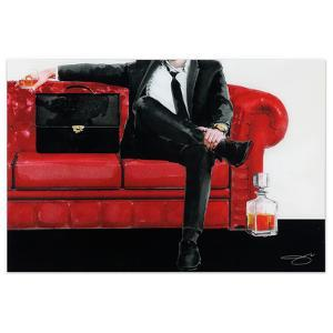 The Gentleman - Free Floating Tempered Glass Panel Graphic Wall Art