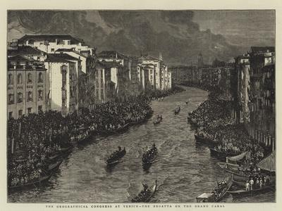 The Geographical Congress at Venice, the Regatta on the Grand Canal--Giclee Print