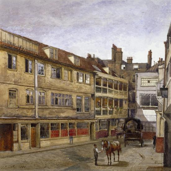 The George Inn, Borough High Street, Southwark, London, 1880-John Crowther-Giclee Print