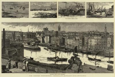The George Stephenson Centenary, Newcastle Illustrated--Giclee Print