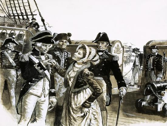 The Georgians: The Tragic Lovers. Nelson and Lady Hamilton-C.l. Doughty-Giclee Print