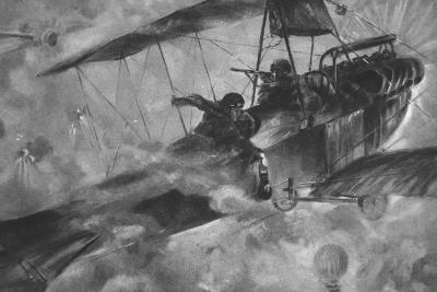 The German Airmen as their Countrymen Like to See Them: a Battle Royal in Mid-Air--Giclee Print