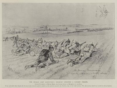 The German Army Manoeuvres, Infantry Resisting a Cavalry Charge-Melton Prior-Giclee Print