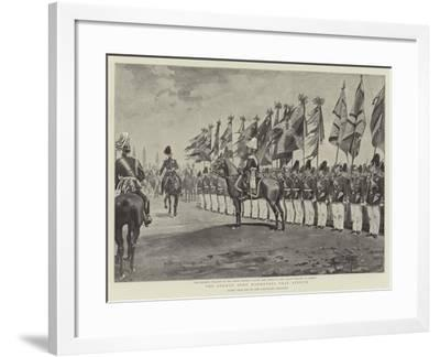 The German Army Manoeuvres Near Stettin--Framed Giclee Print