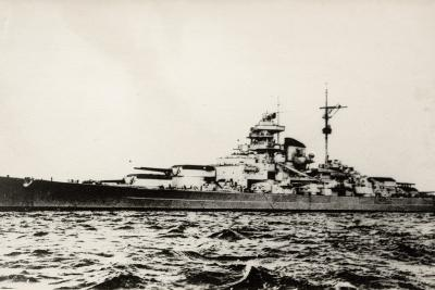 The German Battleship Bismarck of the German Kriegsmarine During Early World War II--Photographic Print