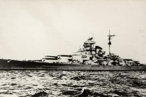 The German Battleship Bismarck of the German Kriegsmarine During Early World War II