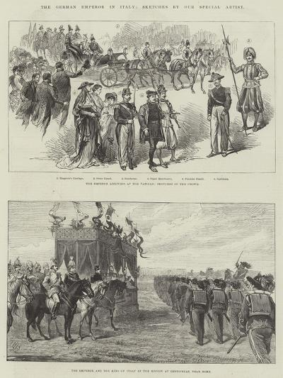 The German Emperor in Italy--Giclee Print