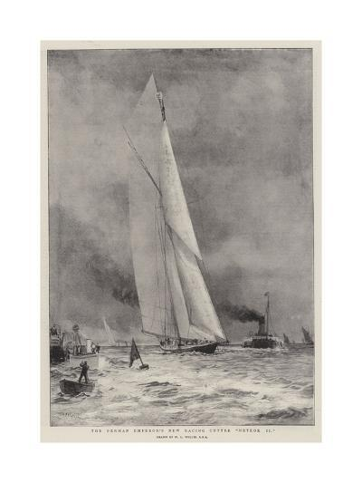 The German Emperor's New Racing Cutter Meteor II-William Lionel Wyllie-Giclee Print