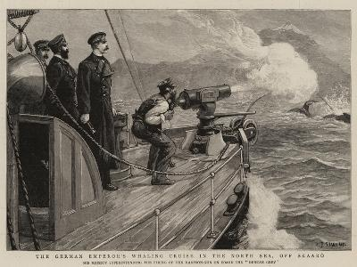 The German Emperor's Whaling Cruise in the North Sea, Off Skaaro-Charles Joseph Staniland-Giclee Print
