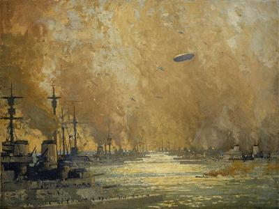 The German Fleet after Surrender, Firth of Forth, November 1918-James Paterson-Giclee Print