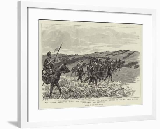 The German Manoeuvres before the German Emperor--Framed Giclee Print