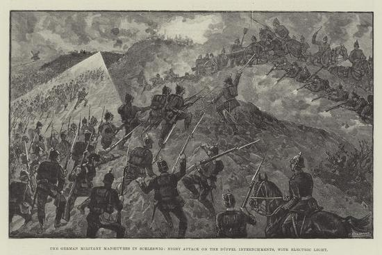 The German Military Manoeuvres in Schleswig--Giclee Print