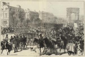The Germans Entering Paris, the Champs Elysees
