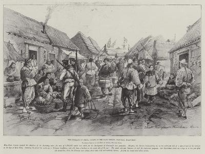 The Germans in China, Scene in the Main Street, Tsingtau, Kiao-Chau-Melton Prior-Giclee Print