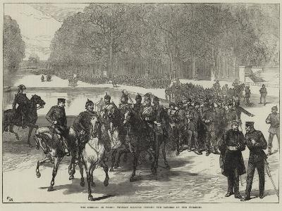 The Germans in Paris, Prussian Soldiers Visiting the Gardens of the Tuileries--Giclee Print