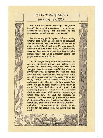 image about Gettysburg Address Printable named The Gettysburg Cover Artwork Print via