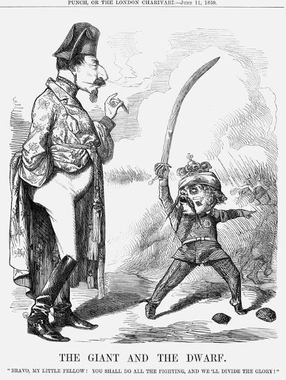 The Giant and the Dwarf, 1859--Giclee Print