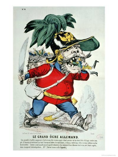The Giant German Ogre, Caricature of Otto Von Bismarck--Giclee Print