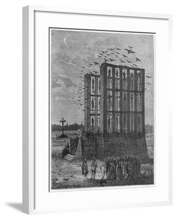 The Gibbet of Montfaucon--Framed Giclee Print