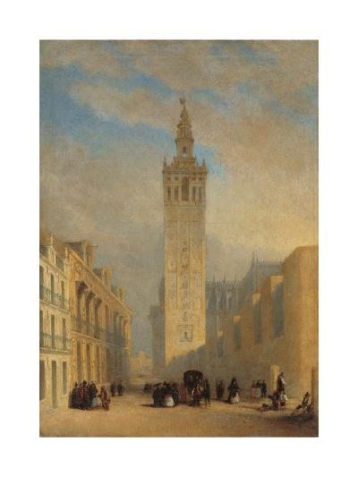 The Giralda Seen from Calle Placentines-Jos? Dom?nguez B?cquer-Giclee Print