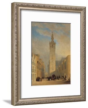 The Giralda Seen from Calle Placentines-José Domínguez Bécquer-Framed Giclee Print