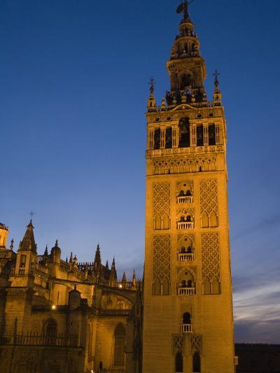 The Giralda Tower and Cathedral De Sevilla at Dusk-Krista Rossow-Photographic Print