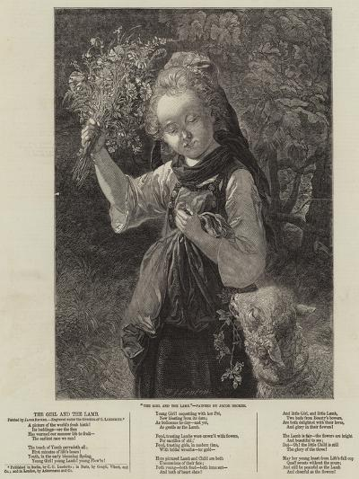 The Girl and the Lamb--Giclee Print