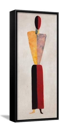 The Girl, Figure on White-Kasimir Malevich-Framed Canvas Print