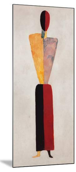The Girl, Figure on White-Kasimir Malevich-Mounted Print