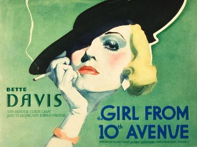 The Girl From 10th Avenue, Bette Davis on title card, 1935--Art Print