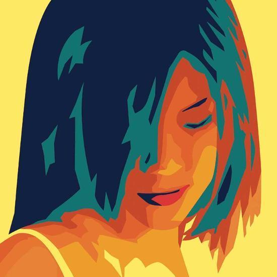 The Girl from Okinawa (yellow)-Javier Palacios-Art Print