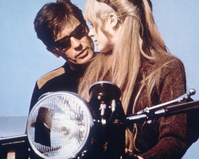 The Girl on a Motorcycle--Photo