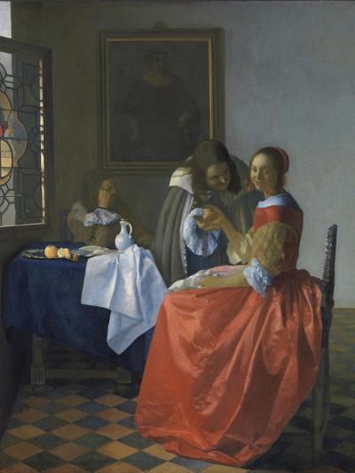 The Girl with the Wineglass-Johannes Vermeer-Giclee Print