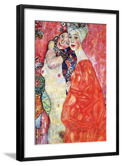 The Girlfriends-Gustav Klimt-Framed Art Print
