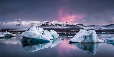 The Glacier Lagoon-Andreas Wonisch-Photographic Print