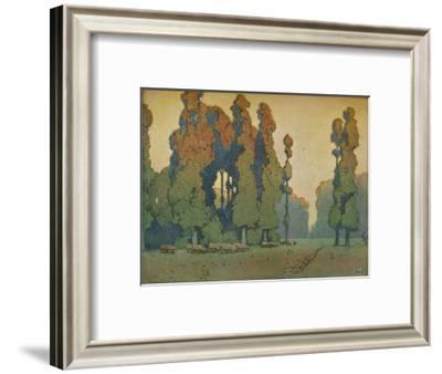 'The Glade', c1910-Alfred Hartley-Framed Giclee Print