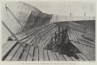 The Glasgow Disaster, the Wrecked Terracing Through Which the Victims Fell--Giclee Print